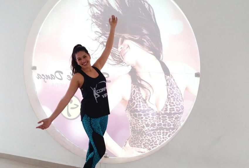 Ana Paula comanda as aulas de Zumba no Stúdio Vips_