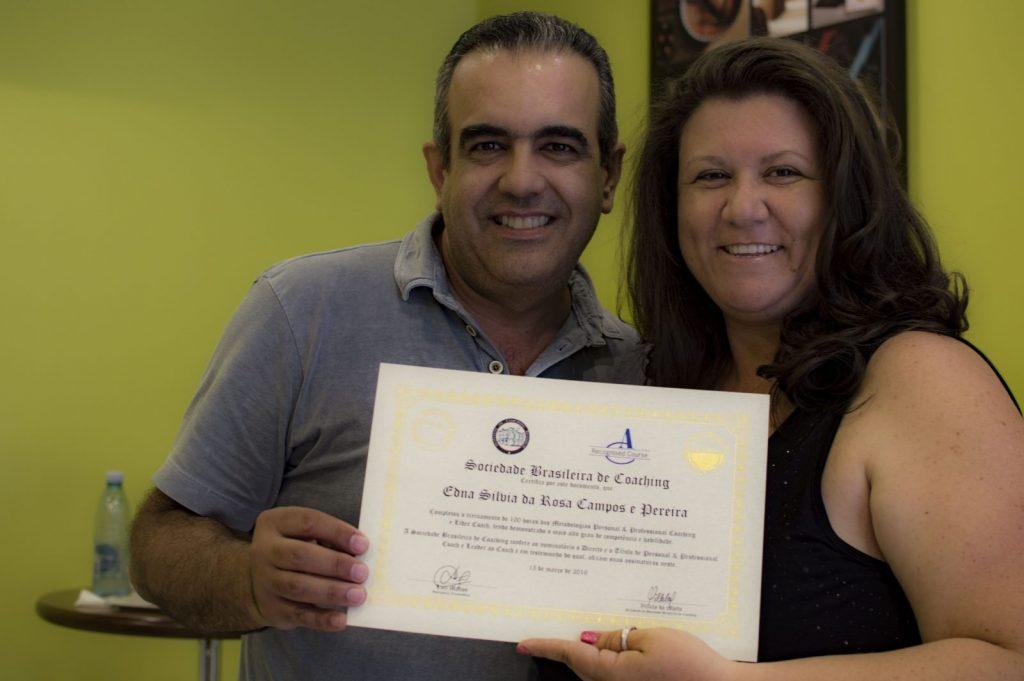 Luiz Mattos e Silvia Rosa, que participou do curso em 2016