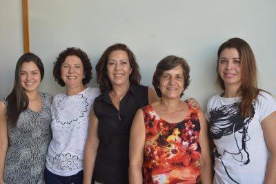 Maria Clara Bersonetti, Vera Ely, Marilei Casimiro Valcazara, Dirce Pereira de Souza e Ieda Barros, da Unimes