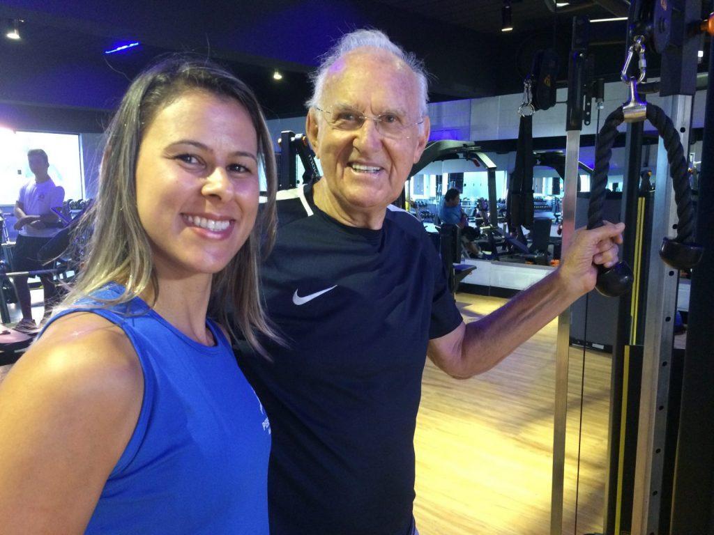 A personal trainer Andréa Ascacibas e o empresário Pitico