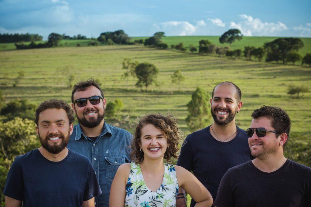 Os integrantes da banda Supernós (foto: Eduardo Prado)