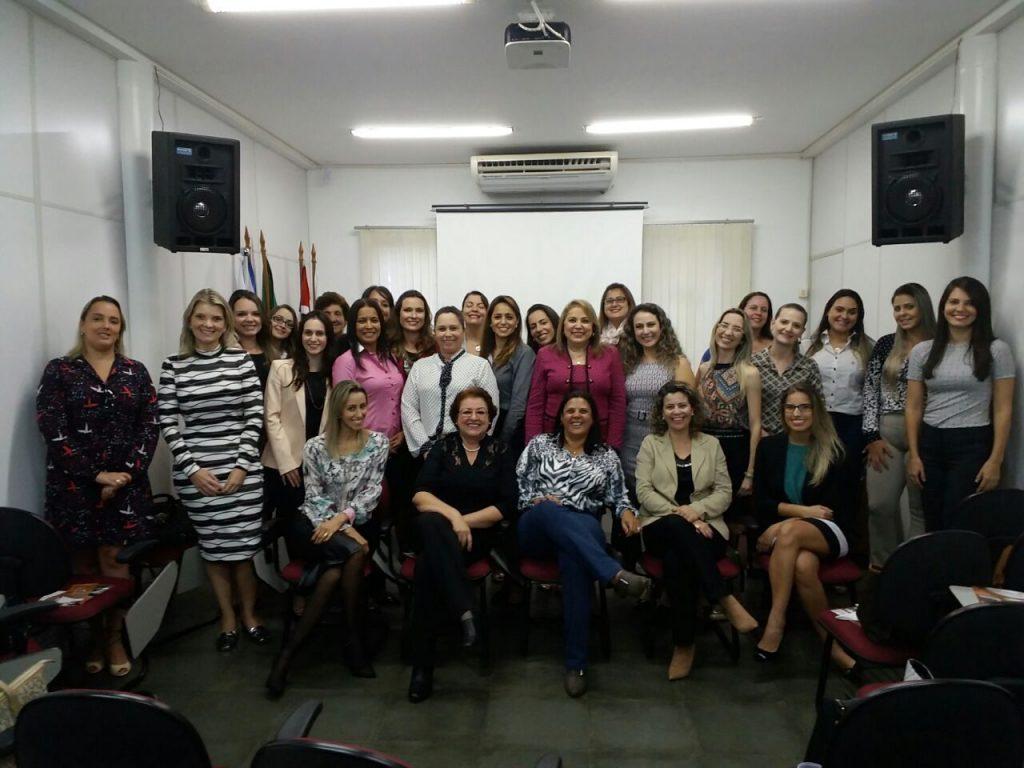 Advogadas presentes no evento realizado pela Comissão da Mulher Advogada