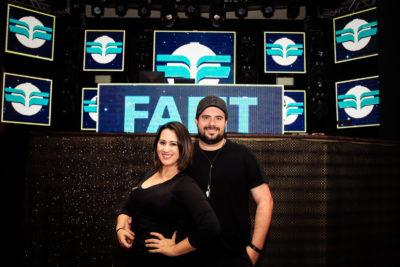O casal Lia Barros e Dide Gemignani