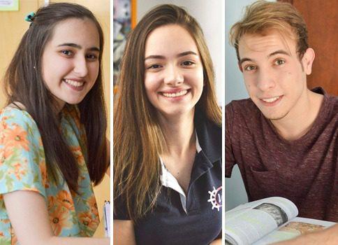 Brenda Rezende, Maria Eduarda Carli e Leonardo Crispilho são candidatos ao vestibular neste ano