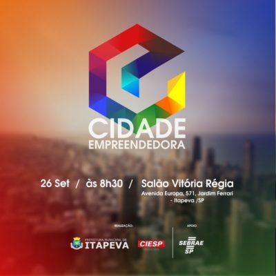 """Itapeva sedia evento """"Cidade Empreendedora"""" nesta quarta-feira"""