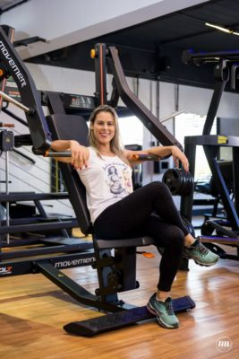 A personal trainer Andrea Ascacibas