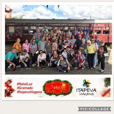 Imagem do grupo que viajou ao Natal Luz neste ano