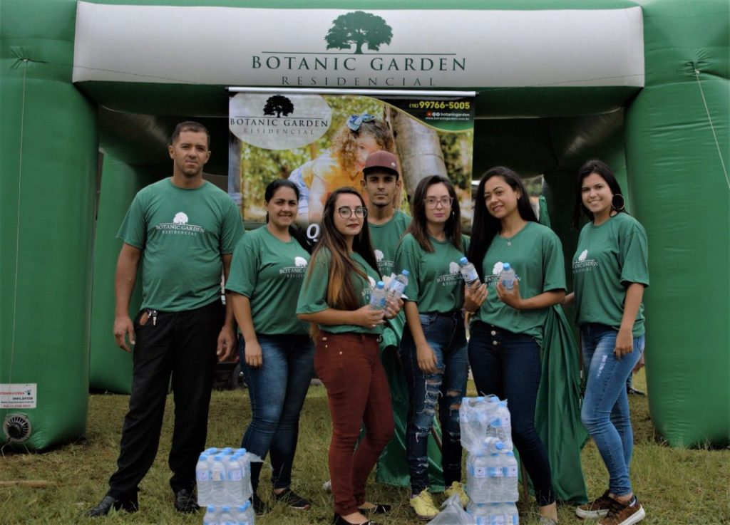 Botanic Garden participou do evento distribuindo água mineral para os atletas