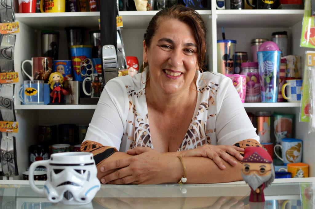 A advogada Rosemari Müzel de Castro apostou no mercado de produtos geek em Itapeva
