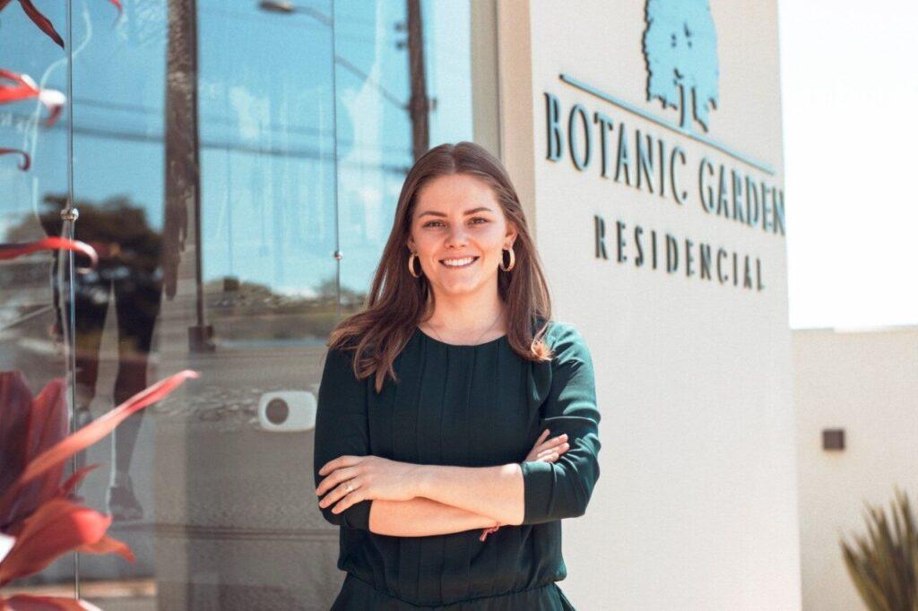 A engenheira civil Daniela Butzer, do residencial Botanic Garden