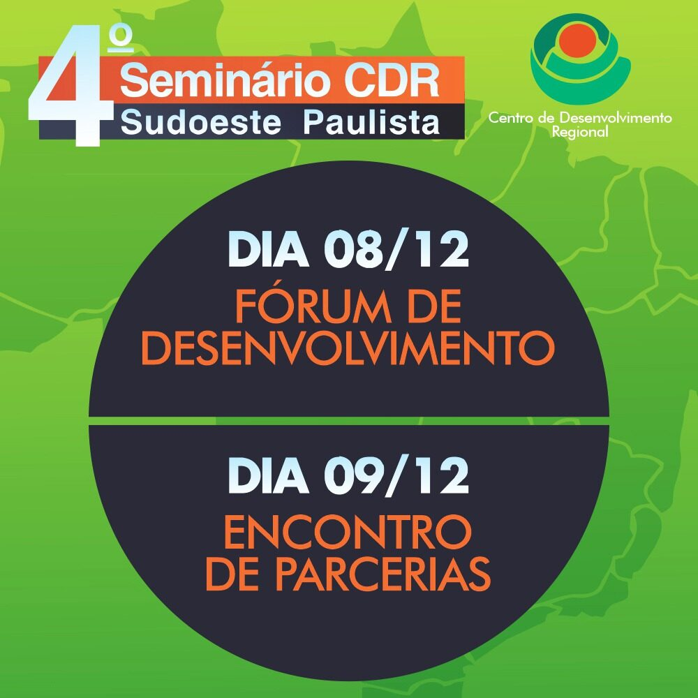CDR e ADS promovem Seminário CDR Sudoeste