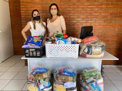 Milene Lisboa entrega alimentos para mulheres vítimas de violência